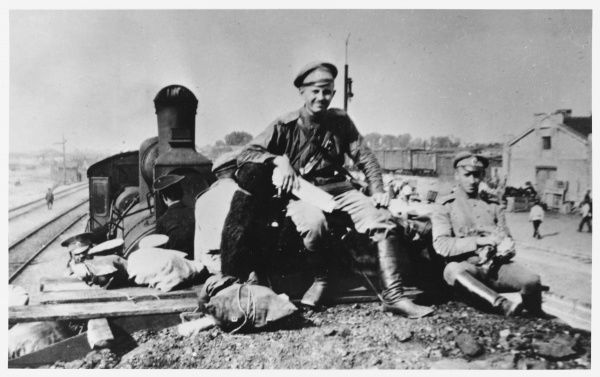 Disillusioned with Kerensky's provisional government, soldiers desert from the battle front against the Germans
