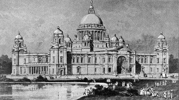 Illustration showing the design, by Sir William Emerson, for the All India Queen Victoria Memorial Hall, Calcutta, 1904