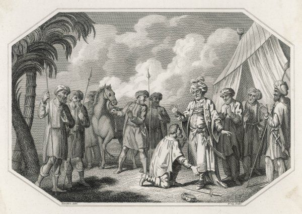 William Despreaux taken by the Saracens and brought before the Sultan Saladin