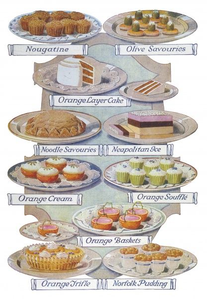 An enticing array of desserts and savouries