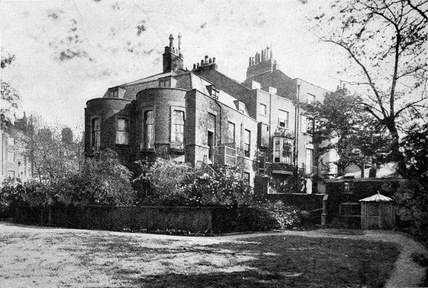 Photograph showing the rear of Devonshire Terrace, Marylebone, London, the home of Charles Dickens from 1839 to 1850