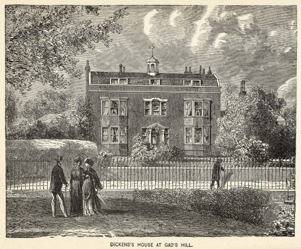 His home at GAD'S HILL, near Rochester, Kent