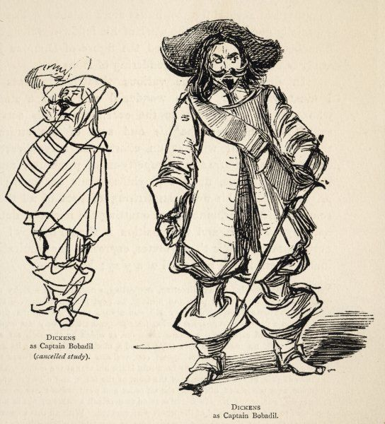 CHARLES DICKENS Dickens in the role of Captain Bobadil in Ben Jonson's 'Every Man in His Humour&#39