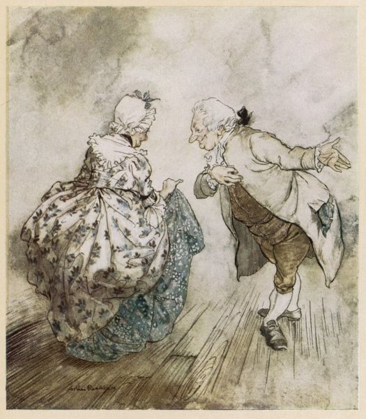 Mr Fezziwig invites Mrs Fezziwig to dance Date: First published: 1843-44