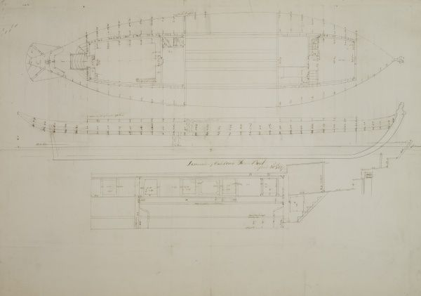 Dimensions of the steam yacht Caledonia Date: 1817
