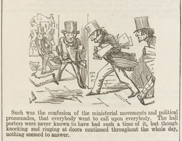 BENJAMIN DISRAELI General confusion following the Ministerial Crisis of 1851 (Cartoon 3 of 4)