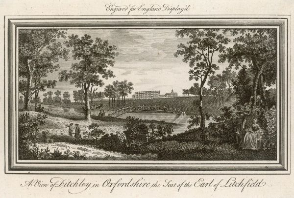 Ditchley, Oxfordshire, the seat of the earl of Litchfield