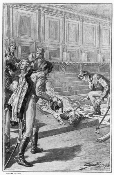 Lodovico Manin, the 120th and last doge of Venice, collapses after swearing allegiance to Austria, a consequence of Napoleon's conquest of northern Italy