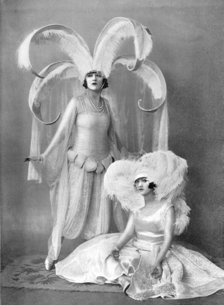 The Dolly Sisters in their bridal attire by Paul Poiret from League of Notions, New Oxford Theatre, London, 1921 1921