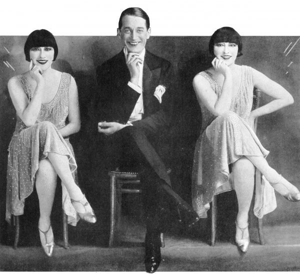The Dolly Sisters and Maurice Chevalier in Paris En Fleurs, Paris, 1925 1925