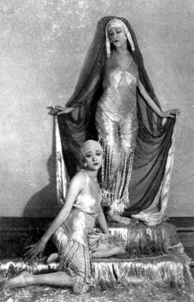The Dolly Sisters wearing their Persian costumes by Max Weldy in League of Notions, London, 1921 1921
