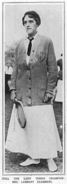 Dorothea Douglass Lambert Chambers (1878 - 1960), English tennis player and seven time winner of the ladies' singles title at Wimbledon between 1903 and 1914