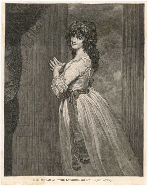 DOROTHEA JORDAN (nee Bland) actress and mistress of William IV ; as Priscilla Tomboy in 'The Romp' a comic opera after Bickerstaff's 'Love in the city&#39