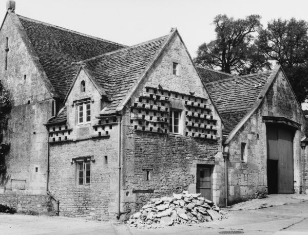 A dovecote and tithe barn in South Stoke, Somerset