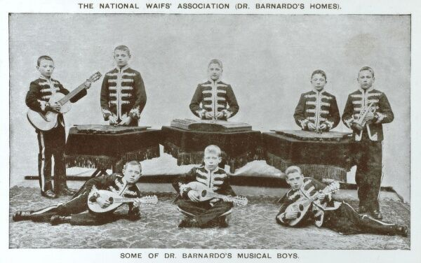 The National Waifs' Association (Dr Barnardo's Homes) - Some of Dr. Barnardo's Musical Boys. Date: circa 1907