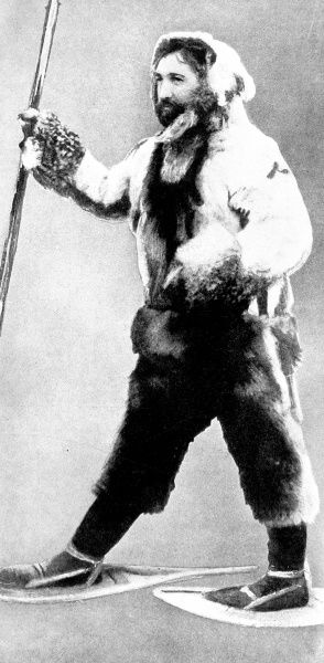 Photographic portrait of Dr. Frederick A. Cook, the US explorer and physician, pictured in 1909. He claimed to be the first man to reach the North Pole, on 21st April 1909