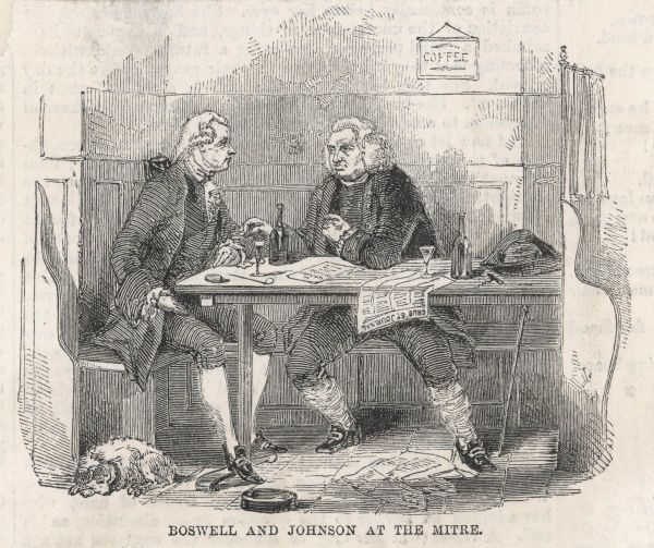DR SAMUEL JOHNSON With Boswell at the Mitre Tavern