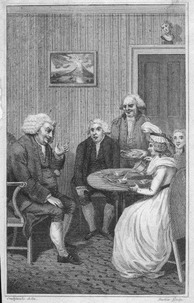 DR SAMUEL JOHNSON At Hester Thrale's breakfast table, in around 1770