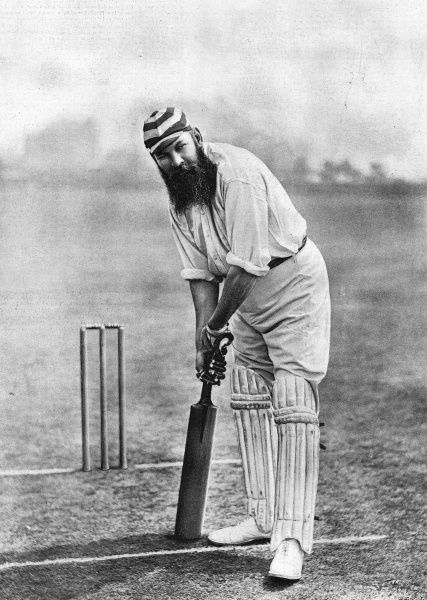 Photograph of Dr. William Gilbert Grace (1848-1915), arguably the finest cricketer of his era, who scored 126 first-class centuries while playing for England and Gloucestershire