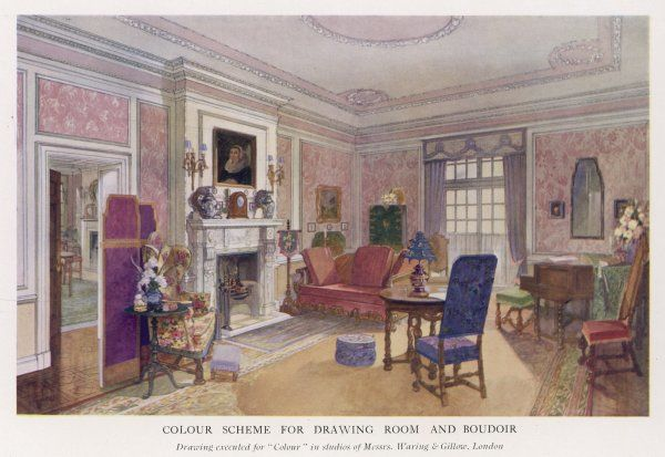An elegant colour scheme designed by Waring and Gillow, suitable for any upper class home