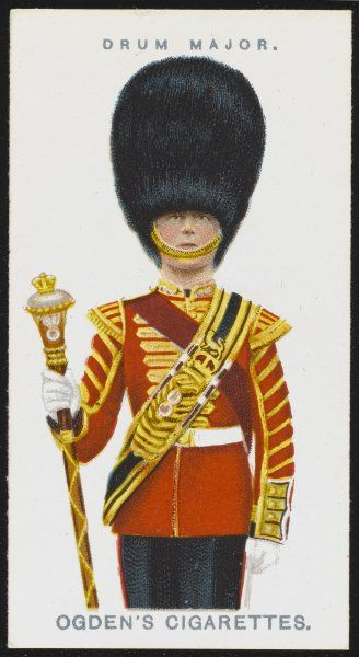 A Drum Major from the Grenadier Guards. This famous regiment was made from the premier of the Foot Guards for its valour at Waterloo