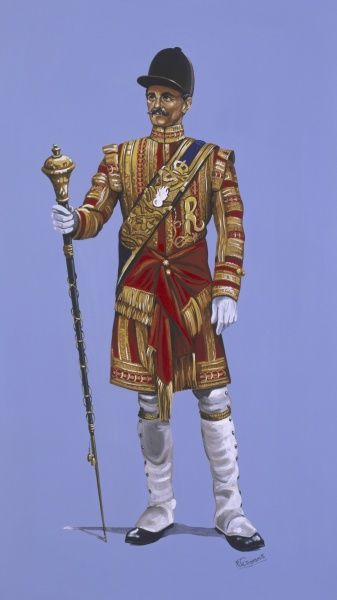 A Drum Major of the Grenadier Guards in Full Ceremonial Dress