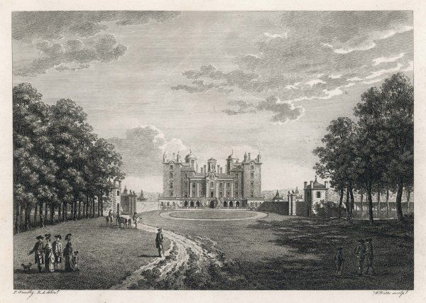 Drumlanrig Castle, Dumfries and Galloway, the seat then of the duke of Queensbury, today of the dukes of Buccleugh