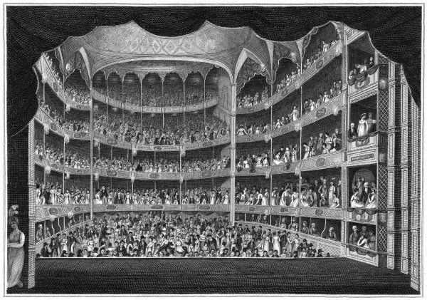 An actor's-eye view of the audience at Drury Lane theatre, London