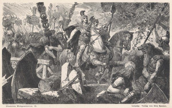 The Romans under the command of General Drusus invade Germany