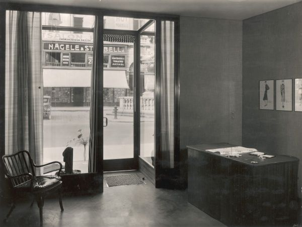 ERNST DRYDEN A photograph of the interior of Hello's shop, showing Ernst Dryden's designs