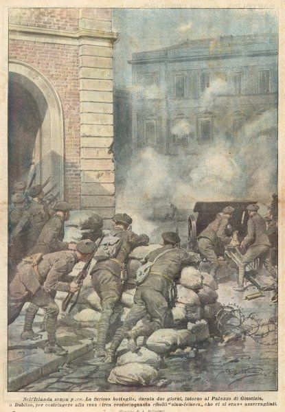 A two-day battle between the British army and Sinn Fein in the Palace of Justice, Dublin
