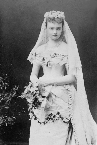 Princess Luise Margarete of Prussia, Duchess of Connaught (1860-1917) on her wedding day, 13 March 1879 to Prince Arthur, third son of Queen Victoria