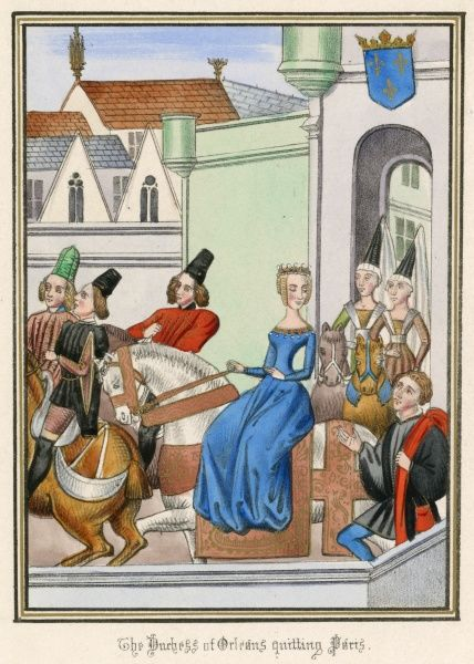 Accused of practising magic against her brother-in-law, the imbecile king Charles VI le Fou, the duchesse d'Orleans has to leave Paris for Asnieres