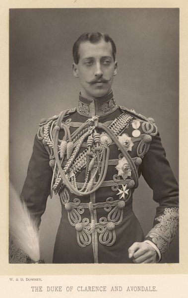 ALBERT VICTOR, DUKE OF CLARENCE AND AVONDALE Elder son of Edward VII, died of pneumonia aged 28