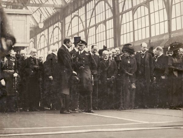 Prince Arthur, Duke of Connaught and Strathearn (1850-1942), and his wife, Princess Louise Margaret of Prussia (Louise Margaret Alexandra Victoria Agnes), Duchess of Connaught and Strathearn (1860-1917), departing for South Africa, where the
