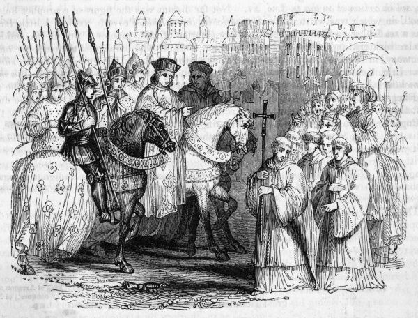 Philippe le Bon, duc de Bourgogne, is greeted by the submissive people of Ghent