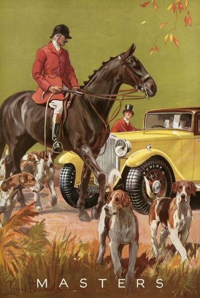 At a meet of the hunt... Date: 1933