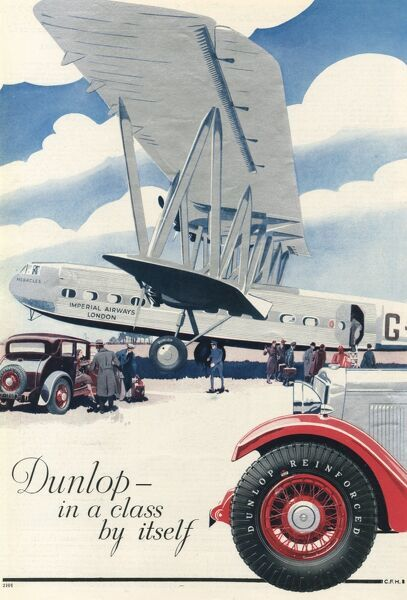 At the airport, with an aircraft of Imperial Airways.  1932