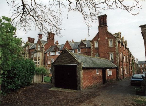 The main building of the Dunmow Union Workhouse, at Great Dunmow in Essex. The workhouse, opened in 1840, was designed by George Gilbert Scott and William Bonython Moffatt. Date: 2000