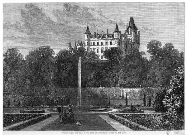 Dunrobin Castle, the seat of the duke of Sutherland, was visited by Victoria in 1871