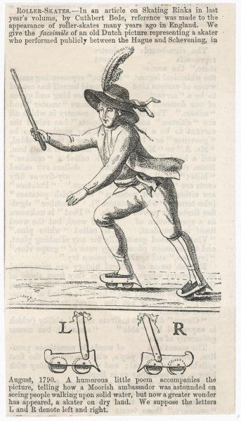 A skater who performed publicly between the Hague and Schevening, in August 1790