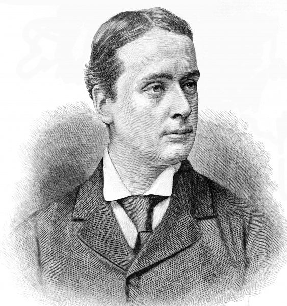 Engraving of Archibald Philip Primrose, the 5th Earl of Rosebery, made in 1886 when he was serving as Secretary of State for Foreign Affairs. On Gladstone's retirement in 1894 he became Liberal Prime Minister. As a devoted race-goer and horse owner