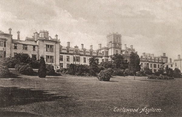 The charitably financed Earlswood Asylum for Idiots and Imbeciles was opened in 1855 at Redhill in Surrey. It later became known as the Royal Earlswood Hospital. Date: circa 1909