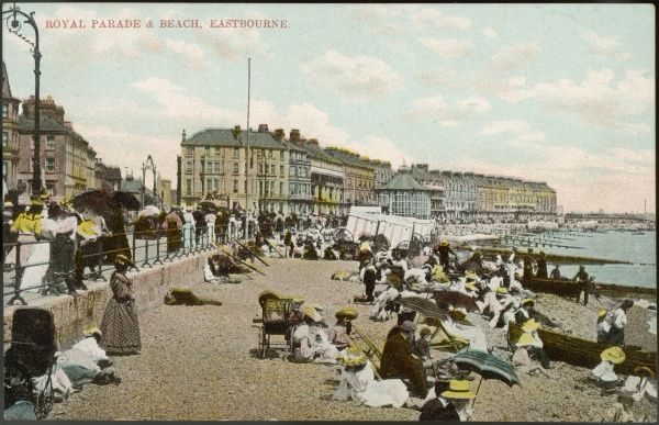 Eastbourne, Sussex: Royal Parade and Beach