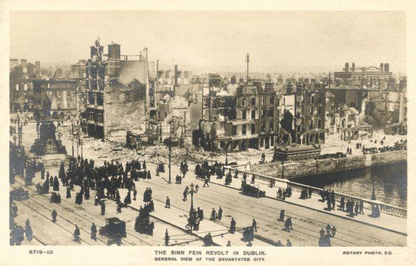 A general view of central Dublin after the abortive Sinn Fein rising