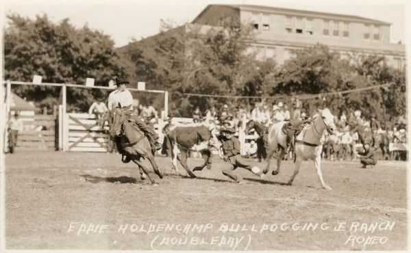 Eddie Holdencamp, Bulldogging Ranch Rodeo, Doubleday