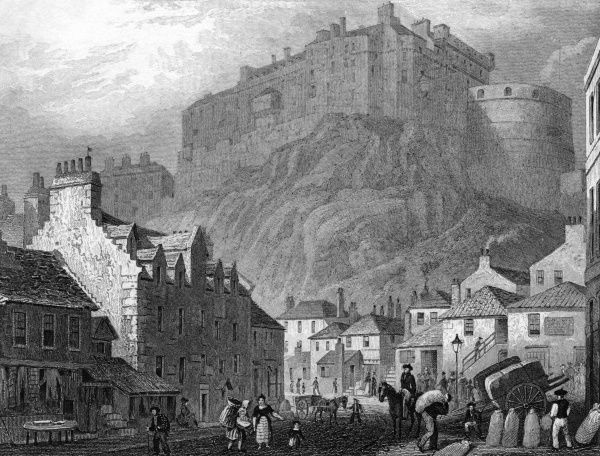 Edinburgh Castle from The Vennel Date: 1829