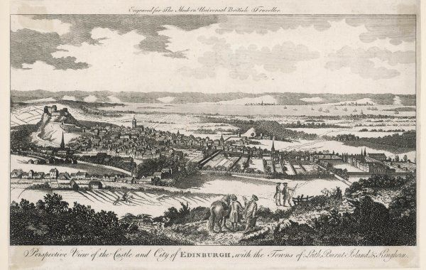 Edinburgh: general view of the Castle and City