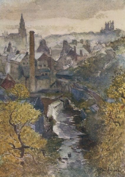 Edinburgh: the 'Water of Leith' from Dean Bridge