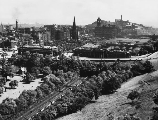 A fine view of Edinburgh, Scotland from the castle ramparts